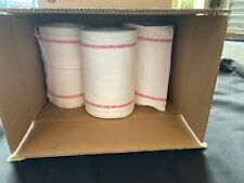 A PACK OF 3 VERY GOOD CONDITION WHITE 100% COTTON, ROLLER TOWELS.