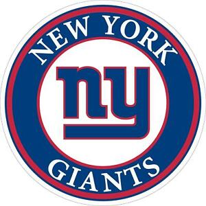 New York Giants Decal ~ Car Window Vinyl Sticker - Wall Graphics Cornhole Boards
