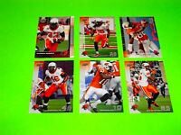 6 BC BRITISH COLUMBIA LIONS UPPER DECK CFL FOOTBALL CARDS 3 5 6 10 17 106 #-2