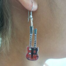 Gibson SG Double Neck - Orecchini Chitarra -Guitar Earrings -Pendientes Guitarra