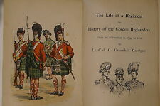 British Scottish History Gordon Highlanders 1794 To 1816 Vol. I Reference Book