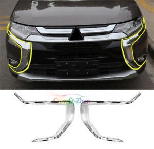 For Mitsubishi Outlander 2016-2020 Chrome Front Bumper Accessories Molding Trim