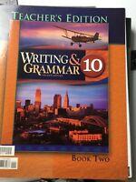 BJU Bob Jones Writing & Grammar Teacher Edition Book 2 Grade 10 VG (2S1-3)486