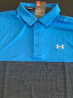 Under Armour Polo Men's Large L HeatGear Playoff Polo Spieth Striped Golf Shirt