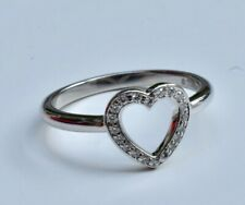 Tiffany & Co Platinum Diamond Open Heart Ring