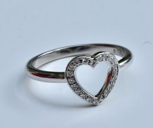 Tiffany & Co Platinum Diamond Open Heart Ring