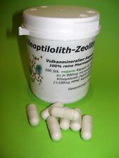 Zeolith Vulkanmineralien 100 DETOX Kapseln a 800mg, Heilerde, vegan