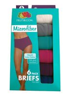 "Fruit Of The Loom Women's Briefs 6-Pack "" Microfiber & Tag Free "" 6DMFBRF NEW!!"