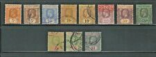 Straits Settlements: 1912; to 1918, Used, some values, with 1- 2- EBSS03