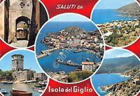 Cartolina - Postcard - Saluti da - Isola del Giglio - vedutine - 1974