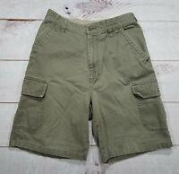 Men's Foot Locker Green Cargo Hiking Camping Shorts Size 30 Tag 32 see pics