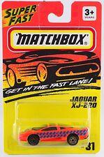 Matchbox MB 31 Jaguar XJ220 Gold Wheels Thailand Casting Mint on Card 1994