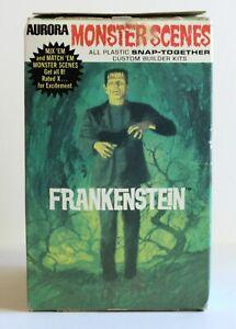 1971 Aurora Monster Scenes Frankenstein Glow in the Dark Complete Model