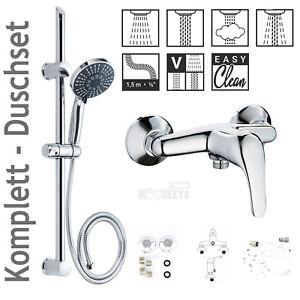 Dusch Armatur Mischbatterie Einhebelmischer mit Brausegarnitur Duschset TM432DS
