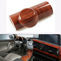 Glossy Wood Grain Textured Vinyl Self-adhesive Car Wrap Decal Sticker 30x124cm
