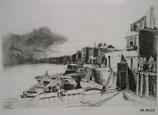 ISLE OF DOGS PLATE A ETCHING BY JOHN W. WINKLER, MASTER ETCHER
