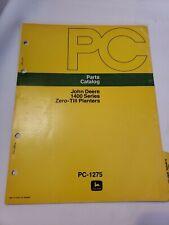 John Deere 1440 1420 1460 Zero Till Planter Parts Manual Catalog Pc1275