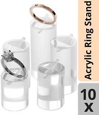 10 Ringhalter Acryl Ring Schmuck Halter Ständer Stand Vitrine Aufsteller Set