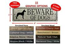 Beware Of Dogs Sign - Doberman, Pitbull, German Shepherd, Lab. - Free Shipping