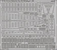 Eduard PE 53158 1/72 German Submarine Type IX C/40 hull pt. 1 Revell C