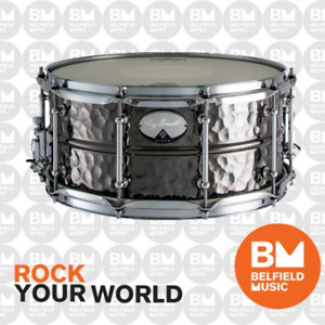 Dixon Gregg Bissonette Signature Snare Drum Hammered Brass Black Nickel 14 x 6.5