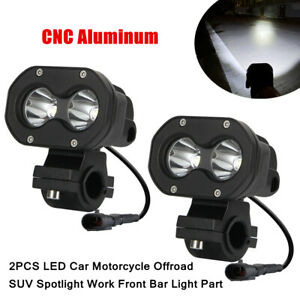 2X 12-24V 60W LED Car Motorcycle Offroad SUV Spotlight Work Front Bar Light Part