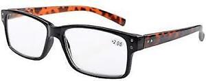 Eyekepper Spring Hinges Vintage Men Reading Glasses w Case +3.50