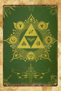 poster metal wall art Legend Of Zelda metal tin sign