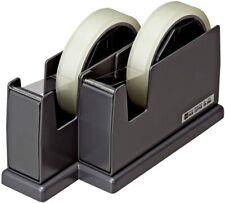 Twin Dispenser Cellophane Tape Cellotape Pair Cutter 12 24mm Open Industry