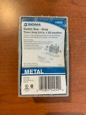 Sigma 14252, 1-Gang Weatherproof Box, Gray, Metal