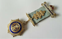 VINTAGE GILT STRERLING SILVER & ENAMEL MEDAL RAOB ROLL OF HONOUR