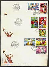 1992 Barcelona Olympics,Basketball,Fencing,Handball,Wrestling,Romania,M.4803,FDC