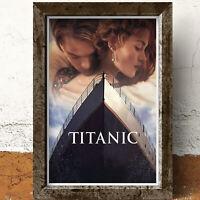 Titanic Leonardo DiCaprio Winslet  Film Movie Glossy Print Wall Art A4 Poster