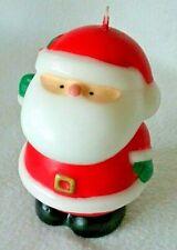 "Vintage Christmas Santa Claus Chunky Wax Candle, Unused 5-1/4"" Tall"
