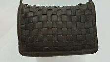 ,,Massimo Dutti,,genuine leather small crossbody bag.made in Turkey.brown color