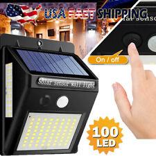 100 LED Solar Lights PIR Motion Sensor Wall Lamp Garden Yard Waterproof Outdoor