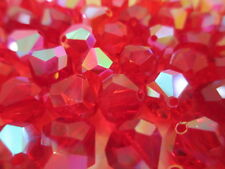 1 Gross VINTAGE West German Full Tin Cut Beads Ruby AB 10mm w/Org. Packs!! WOW!!