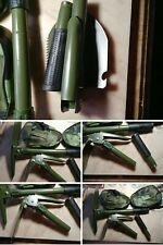 Handheld Foldable Pick And Mattock + Carrying Case great for Metal Detecting #BA