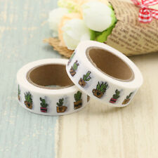 2017 New Print Washi Tape Japanese Cactus Plants 10m Decor Stationery 10m/roll