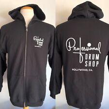 PROFESSIONAL DRUM SHOP Hollywood, California Men's Hoodie Sweatshirt Size Medium