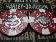 Harley Red & White Poker Chip Speedway Harley Davidson Concord, NC