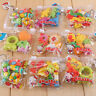 1 Pack New Cute Food Rubber Pencil Eraser Set Novelty Stationery Kids Gifts HOT