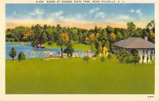 Walhalla South Carolina Oconee State Park Linen Antique Postcard K41174