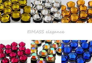 EIMASS® NON-HOT FIX GLASS CRYSTALS FLAT-BACK RHINESTONES DIAMANTE, GEMS, 7787