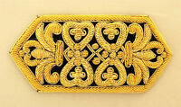 Hand-Embroidered, Gold Applique. Exceptional Stitching