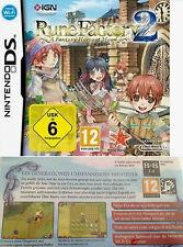 Rune Factory 2 a Fantasy Harvest Moon Nintendo DS dslite DSI 3ds alemán nuevo embalaje original