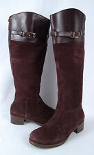 Tory Burch 'Jenna' Riding Boot- Coconut Brown- Size 6.5 M  $498