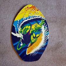 Vintage Michael Searle Skimboard Surfing Iguana Design