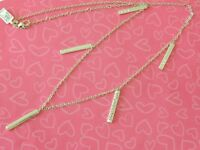 Brighton London Groove Bar Multi Drops Silver Necklace New Tags $78