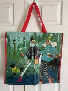 NEW TJ Maxx Large Christmas Holiday Shopping Tote Bag Reusable Eco Friendly